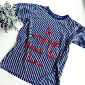 ‼️ Truly Madly Deeply French Script Tee Sz M